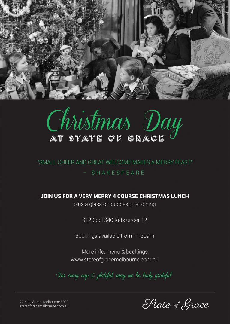 Christmas Day Lunch at State of Grace